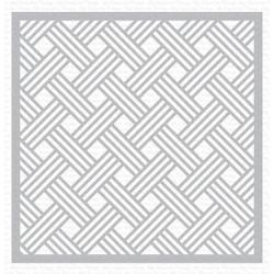 Basket Weave, My Favorite Things Stencils -