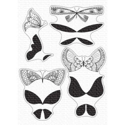 More Brilliant Butterflies, My Favorite Things Clear Stamps -