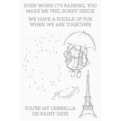 Rainy Day Friends by Rachelle Anne Miller, My Favorite Things Clear Stamps -