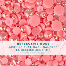 Reflective Rose Baubles, Trinity Stamps Embellishments -