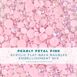 Pearly Pink Baubles, Trinity Stamps Embellishments -