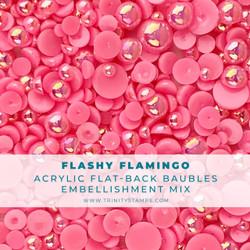 Flashy Flamingo Baubles, Trinity Stamps Embellishments -