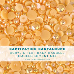 Captivating Cantaloupe Baubles, Trinity Stamps Embellishments -