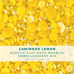 Luminous Lemon Baubles, Trinity Stamps Embellishments -