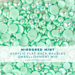 Mirrored Mint Baubles, Trinity Stamps Embellishments -