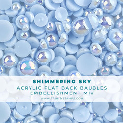 Shimmering Sky Baubles, Trinity Stamps Embellishments -