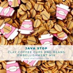 Java Stop, Trinity Stamps Embellishments -