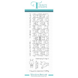 Slimline Bunnies, Trinity Stamps Clear Stamps -