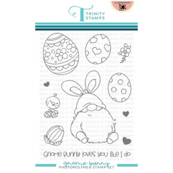Gnome Bunny, Trinity Stamps Clear Stamps -