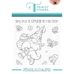 Spring in My Step, Trinity Stamps Clear Stamps -