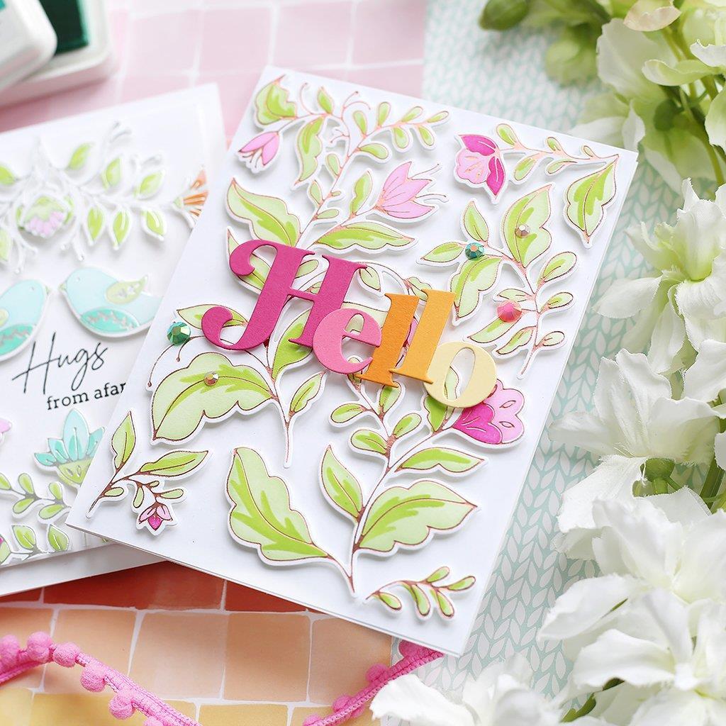 Folk Garden, Pinkfresh Studio Hot Foil Plates -