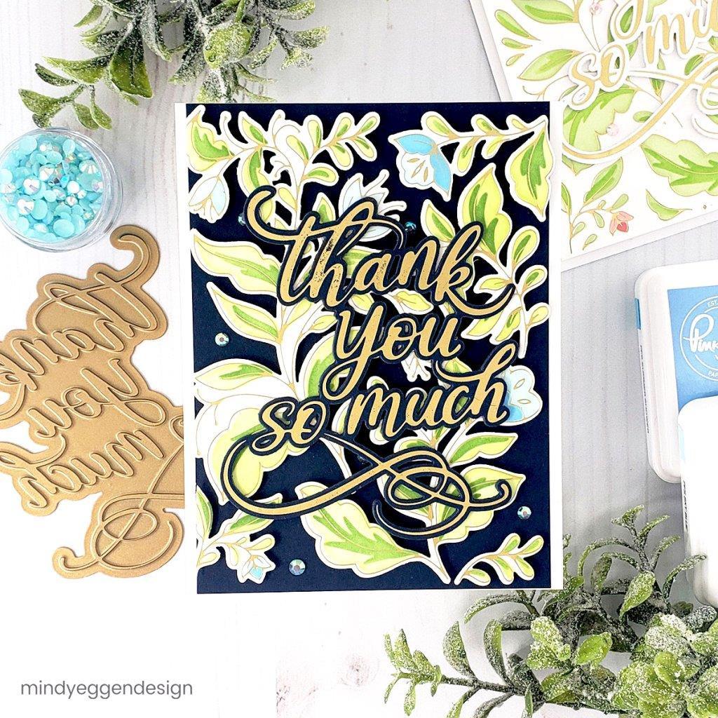Bougainvillea Print, Pinkfresh Studio Stencils -
