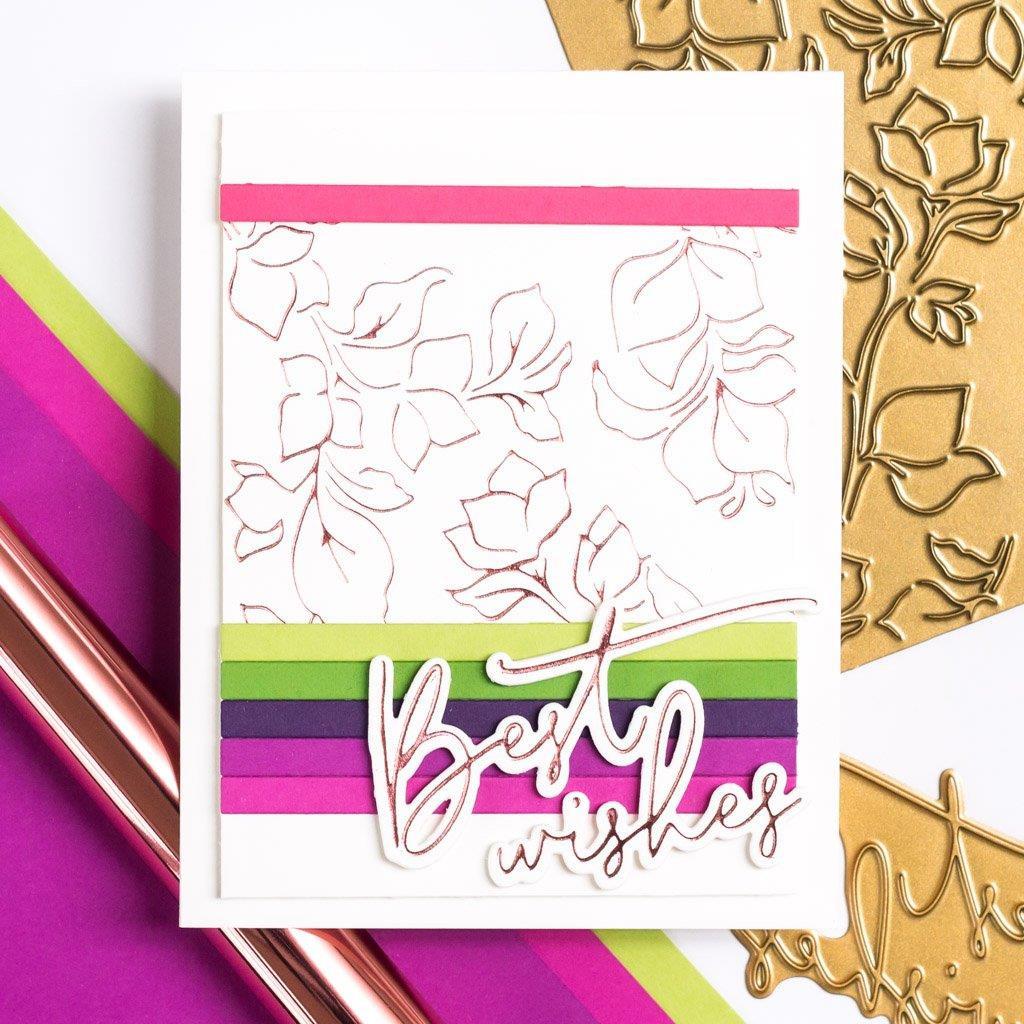 Bougainvillea Print, Pinkfresh Studio Hot Foil Plates -