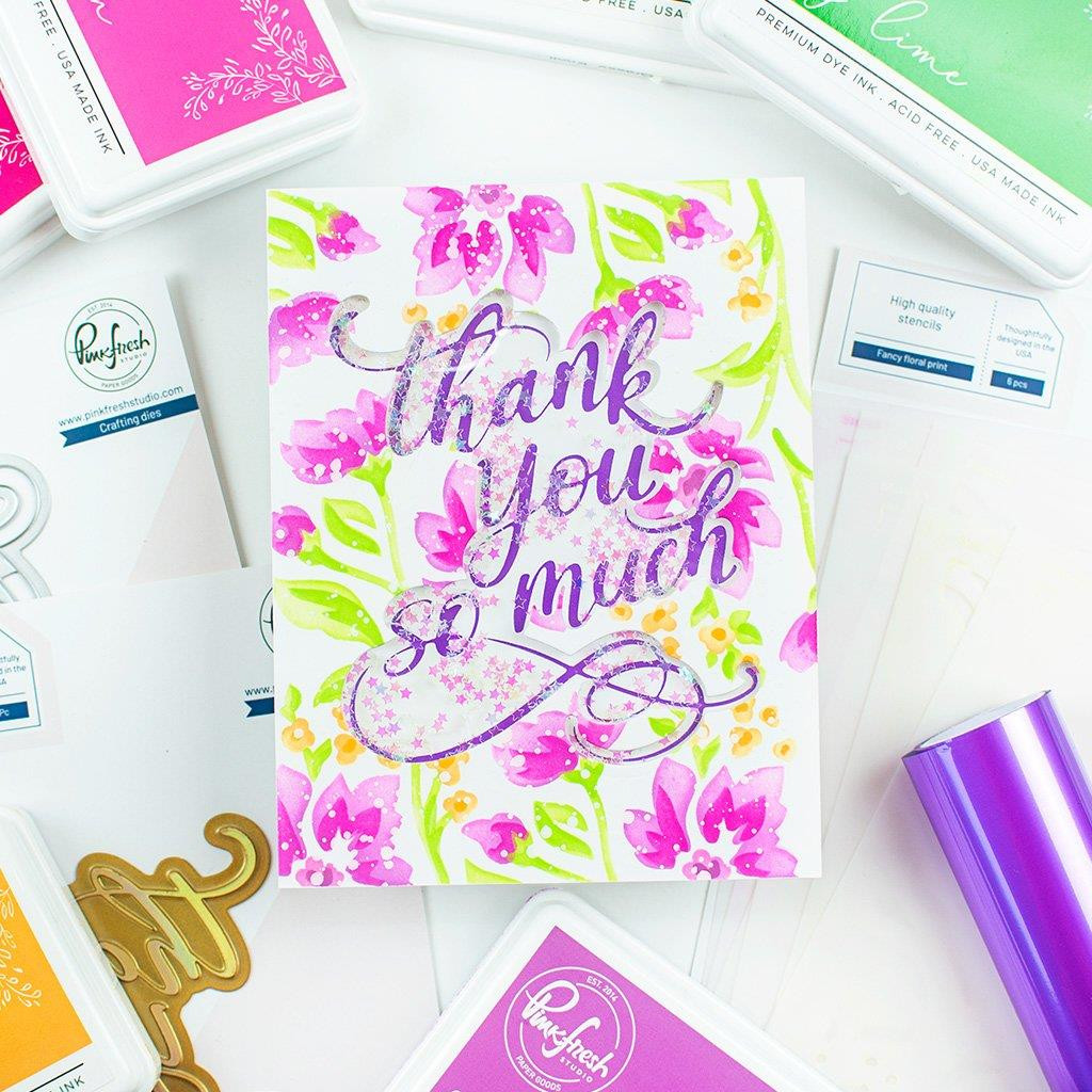 Thank You So Much, Pinkfresh Studio Hot Foil Plates -