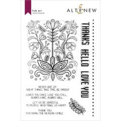 Folk Art, Altenew Clear Stamps -