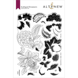 Scalloped Ornaments, Altenew Clear Stamps -