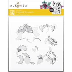 Scalloped Ornaments, Altenew Stencils -