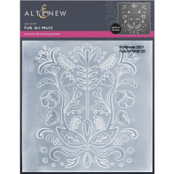 Folk Art Motif 3D, Altenew Embossing Folder -
