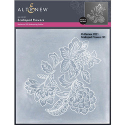 Scalloped Flowers 3D, Altenew Embossing Folder -