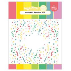 Confetti, Waffle Flower Stencils -