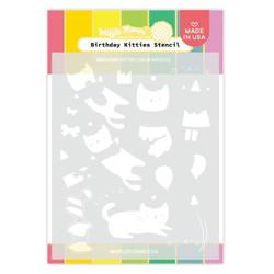 Birthday Kitties, Waffle Flower Stencils -