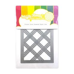 Triple Line Diamond Panel, Waffle Flower Dies -