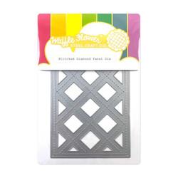 Stitched Diamond Panel, Waffle Flower Dies -