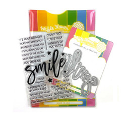Oversized Smile, Waffle Flower Stamp & Die Combo -