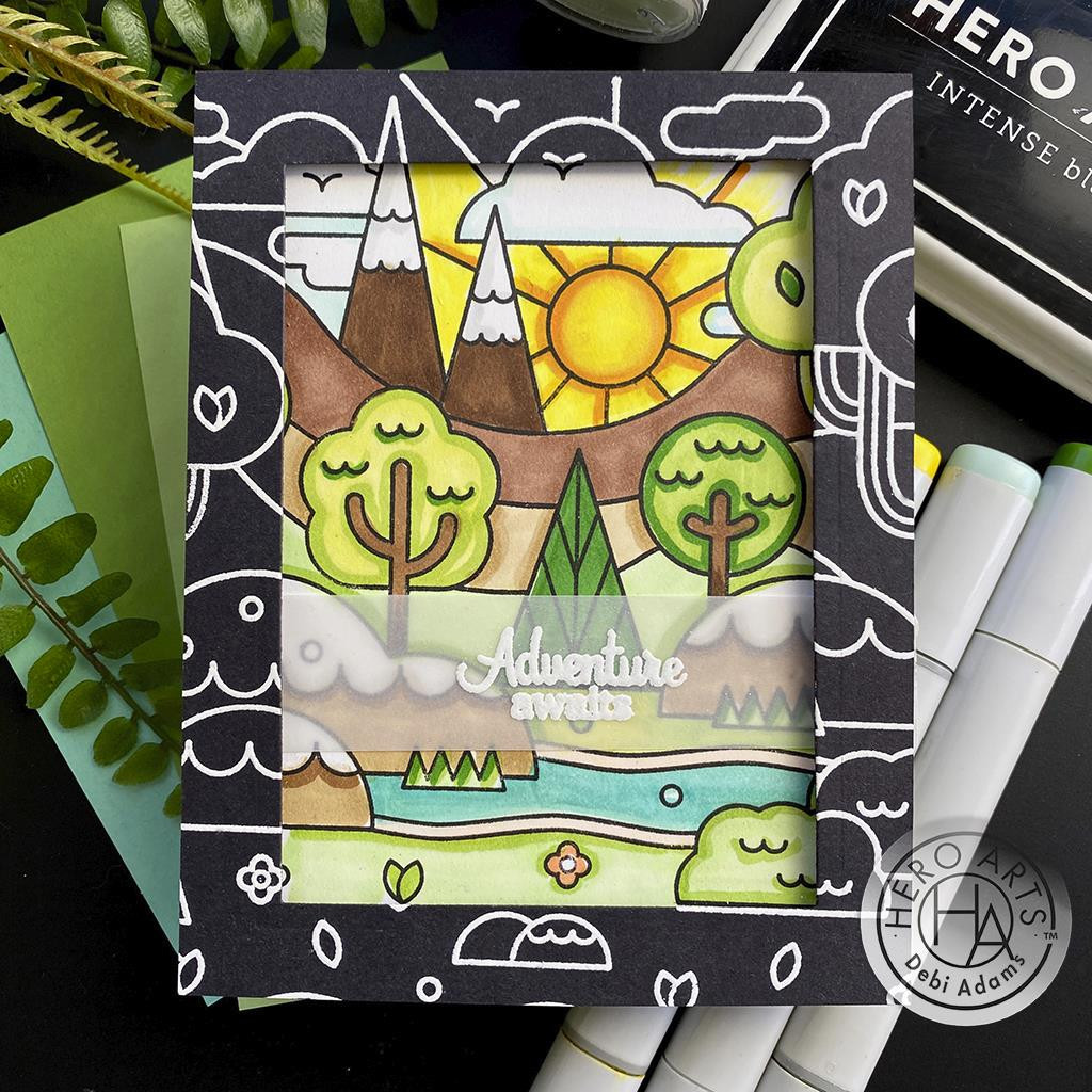 Forest Shapes Bold Prints, Hero Arts Cling Stamps -