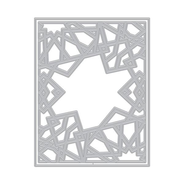 Geometric Sun Cover Plate, Hero Arts Dies -