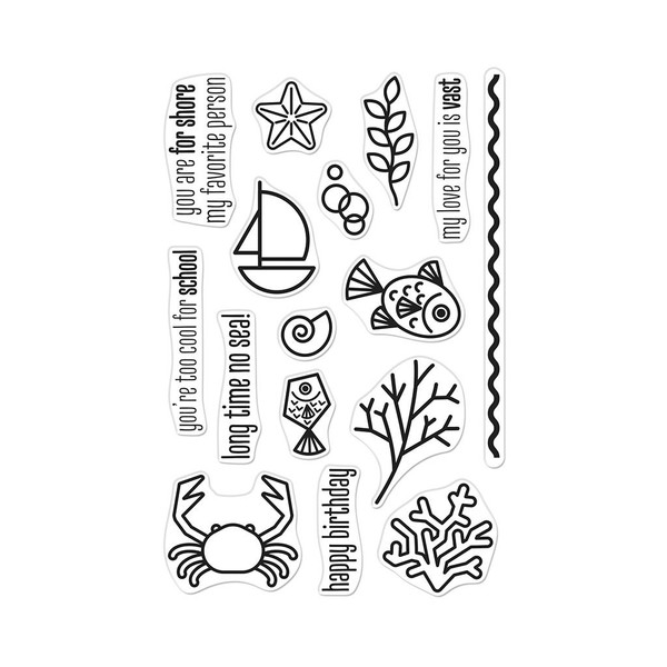 Graphic Reef, Hero Arts Clear Stamps -