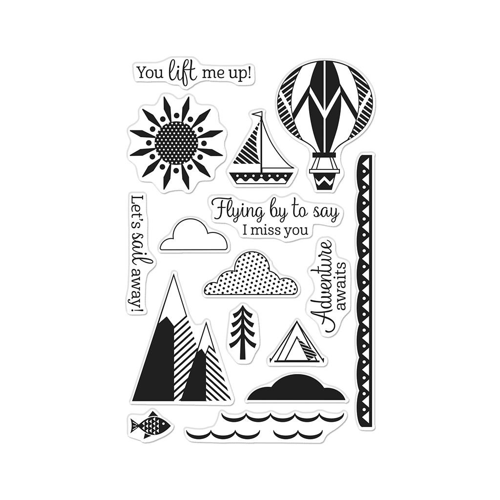 You Lift Me Up, Hero Arts Clear Stamps -