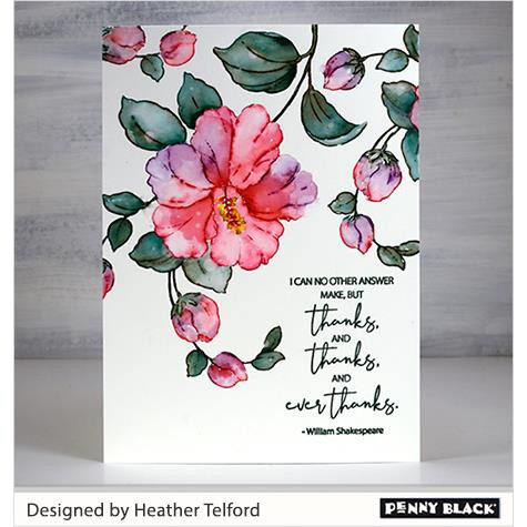 Ever Thanks, Penny Black Clear Stamps -