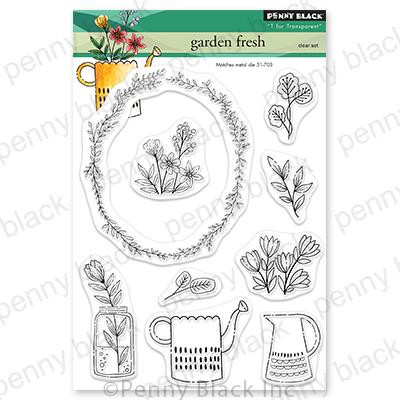 Garden Fresh, Penny Black Clear Stamps -
