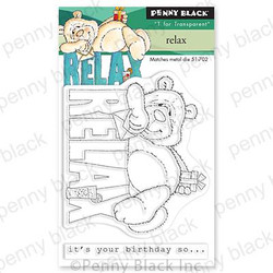 Relax, Penny Black Clear Stamps -