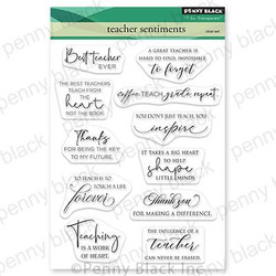 Teacher Sentiments, Penny Black Clear Stamps -