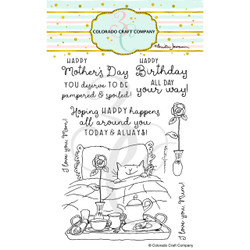 For Mom by Anita Jeram, Colorado Craft Company Clear Stamps -