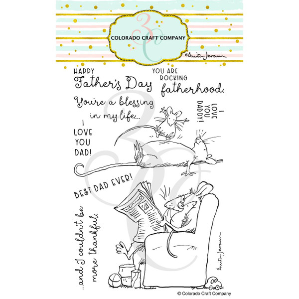 For Dad by Anita Jeram, Colorado Craft Company Clear Stamps -