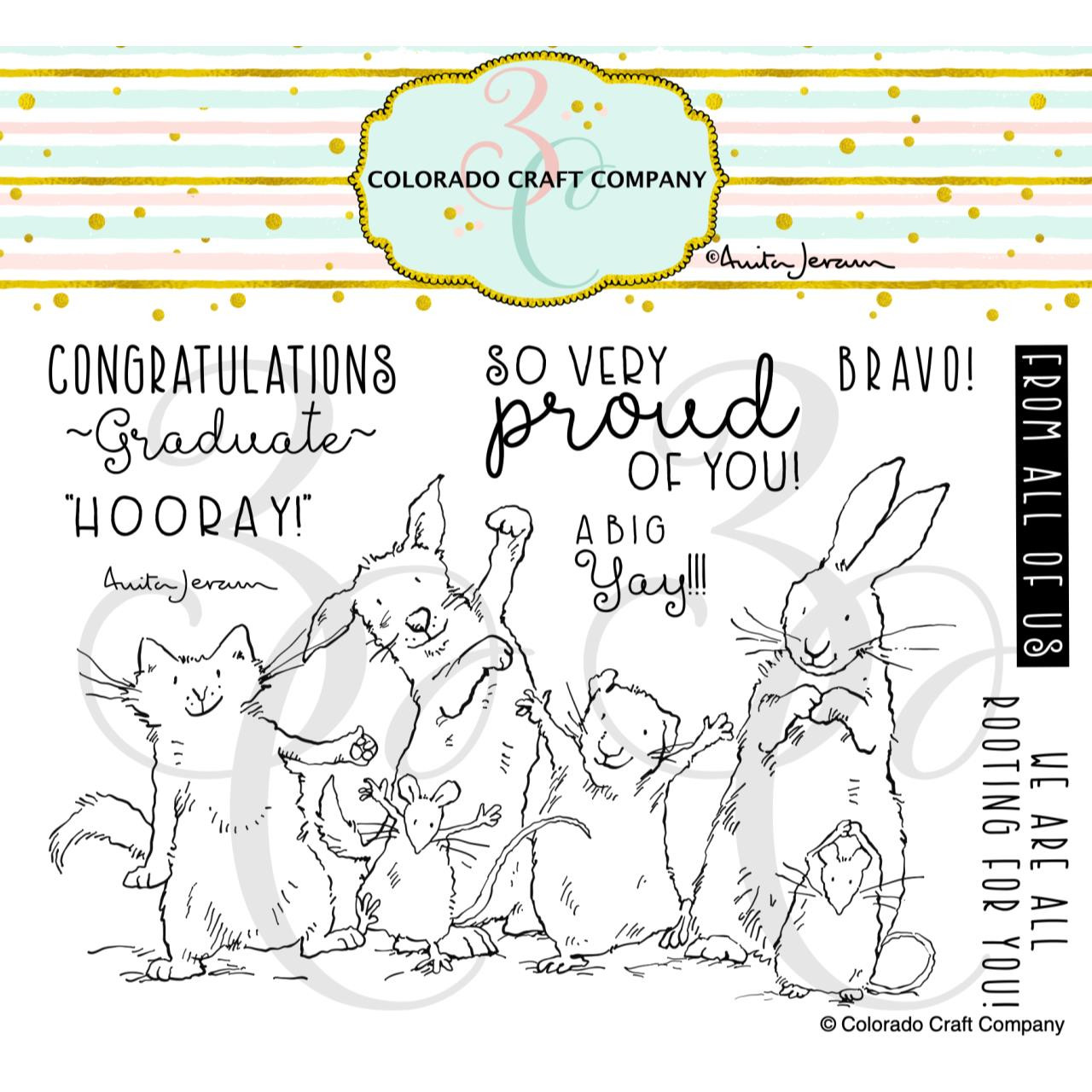 Proud of You by Anita Jeram, Colorado Craft Company Clear Stamps -
