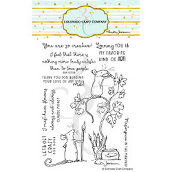 Love Art by Anita Jeram, Colorado Craft Company Clear Stamps -