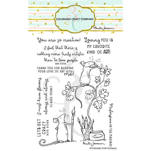 Love Art by Anita Jeram, Colorado Craft Company Clear Stamps -