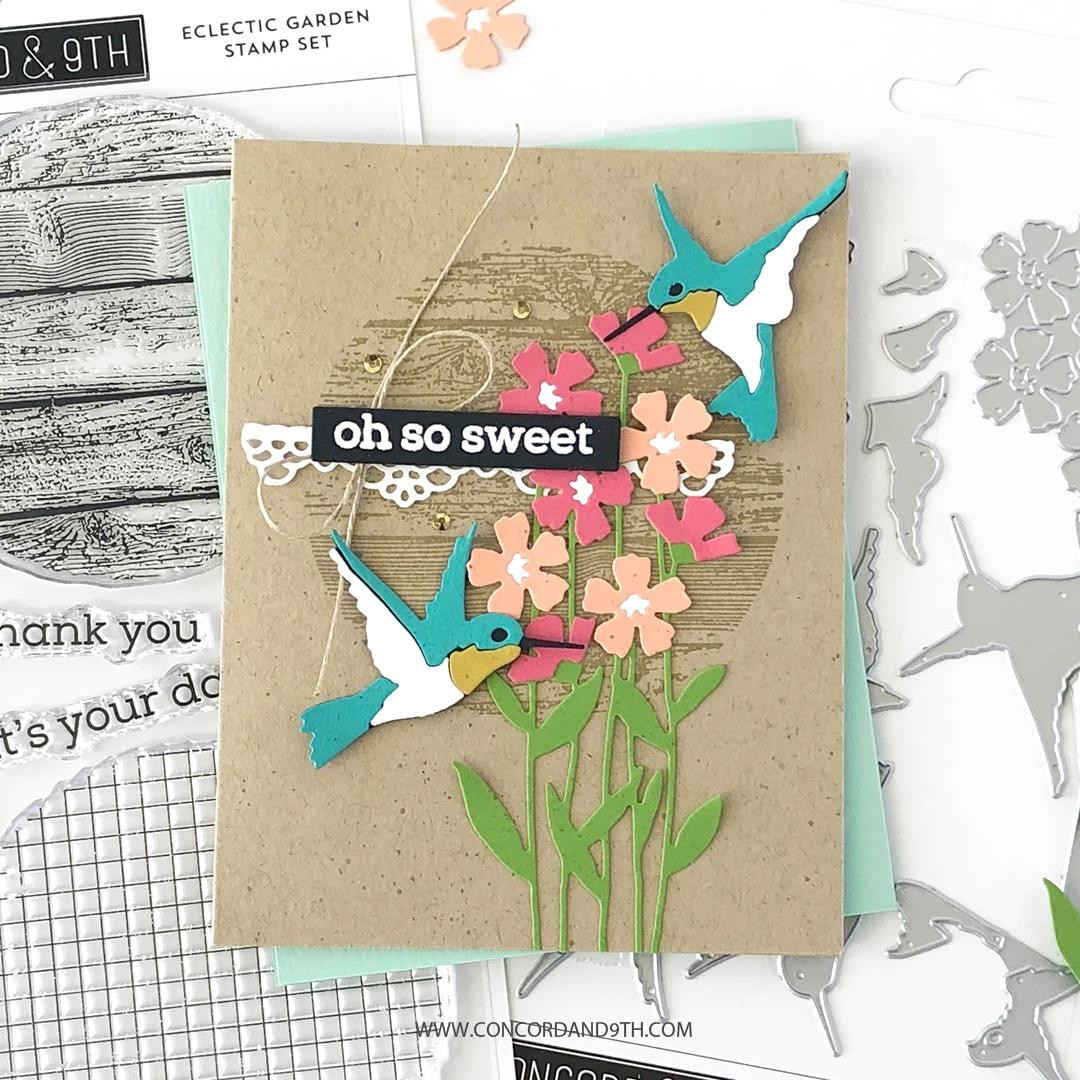 Eclectic Garden, Concord & 9th Clear Stamps -