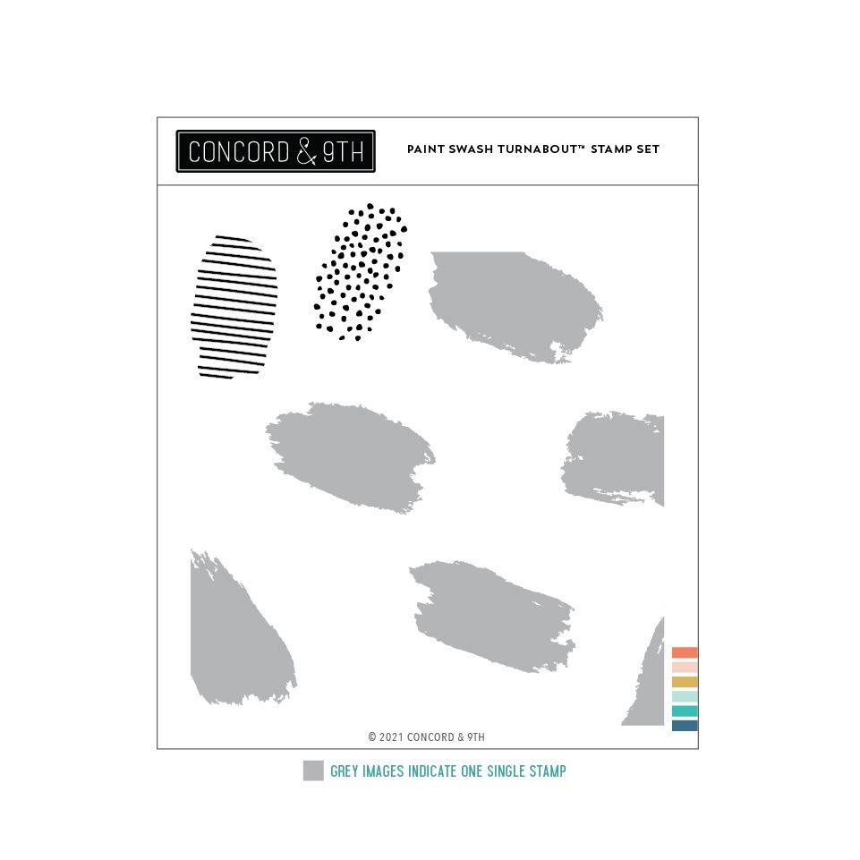 Paint Swash Turnabout, Concord & 9th Clear Stamps -