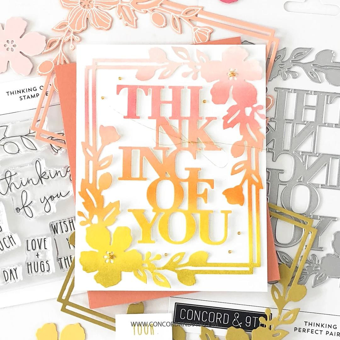 Thinking of You, Concord & 9th Clear Stamps -