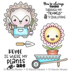 Hedgehog Garden, Darcie's Clear Stamps -