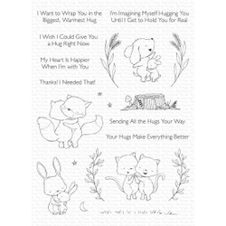 Hugs Make Everything Better by Stacey Yacula, My Favorite Things Clear Stamps -