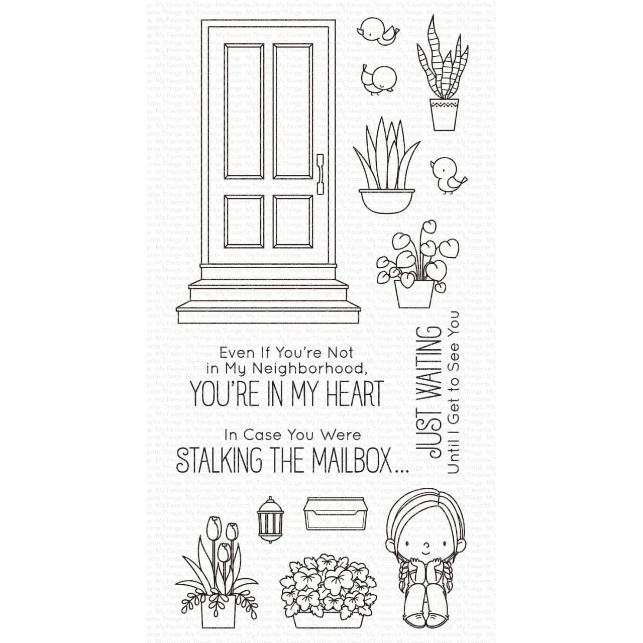 Sittin' Pretty by Birdie Brown, My Favorite Things Clear Stamps -