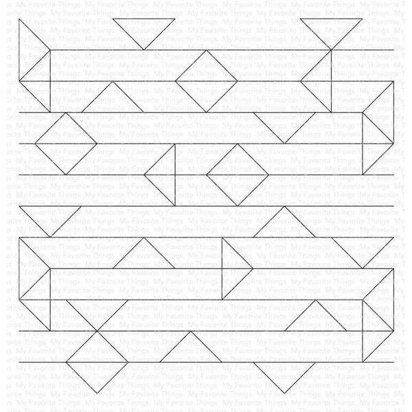 Abstract Triangle Background, My Favorite Things Cling Stamps -