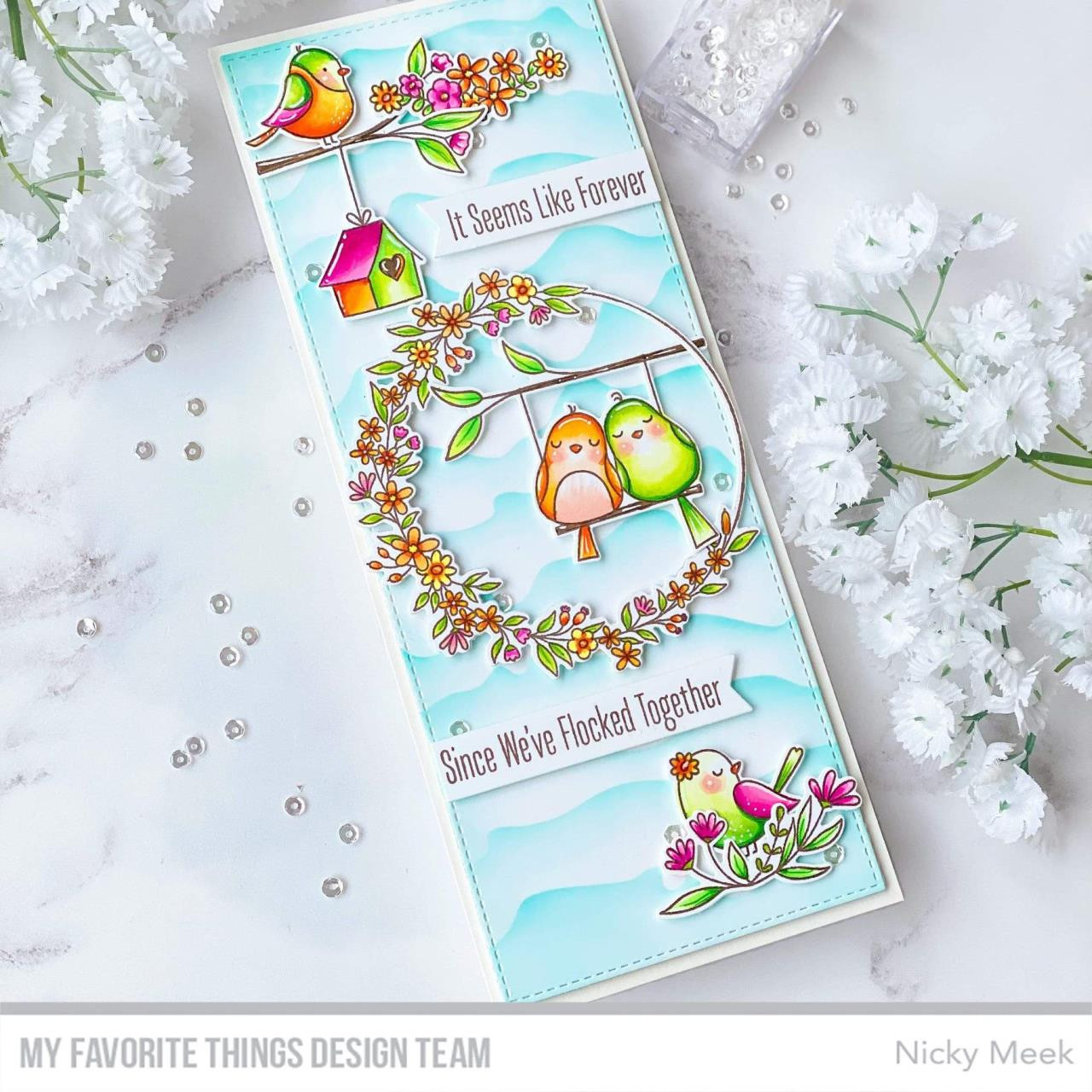 Spring Wreath, My Favorite Things Clear Stamps -