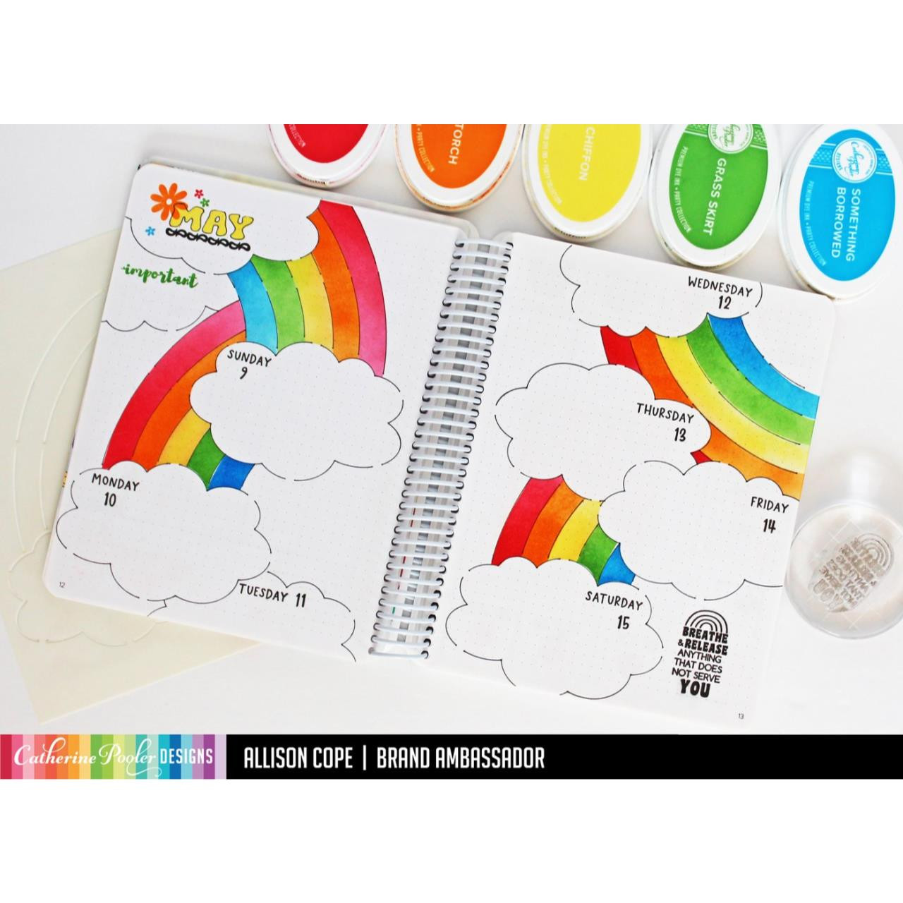 Over the Rainbow, Catherine Pooler Stencils -